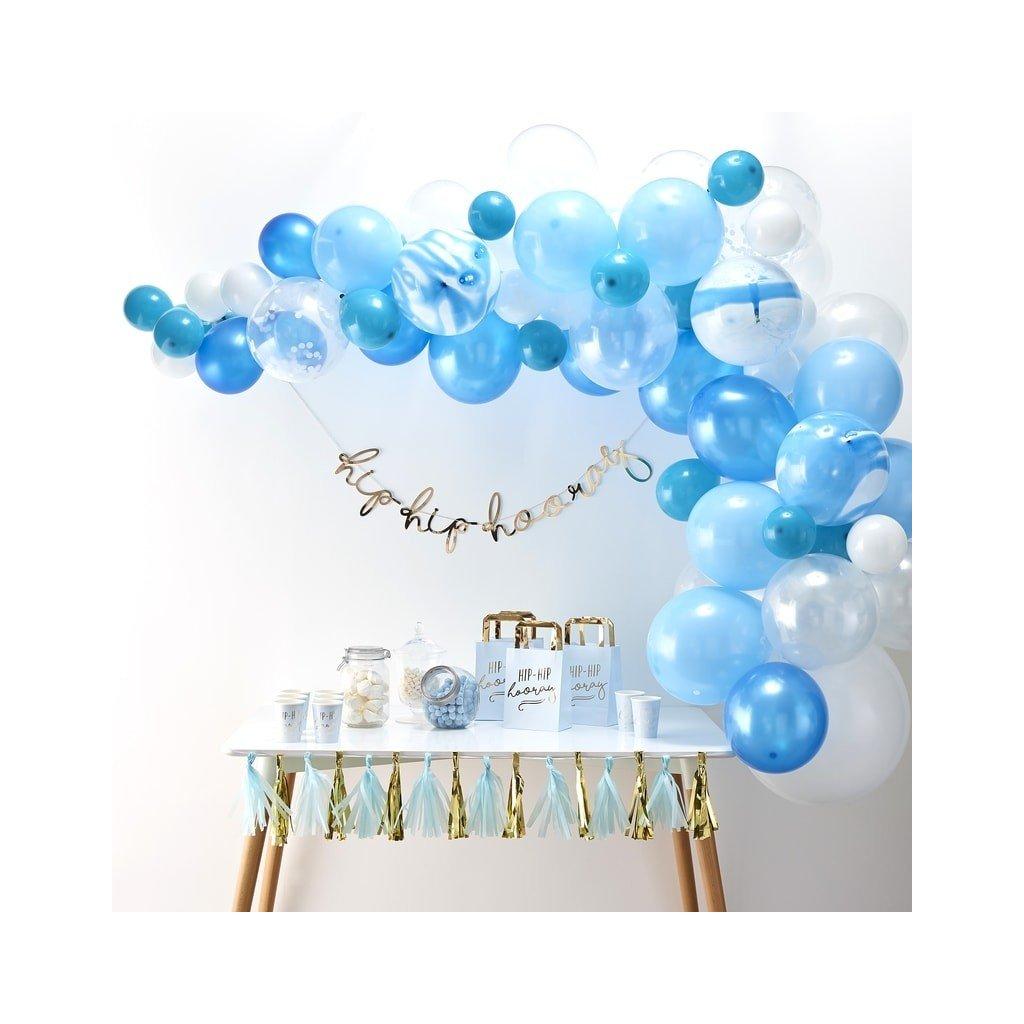 Balonkový set na výrobu balonkového oblouku (girlandy). Barva modrá