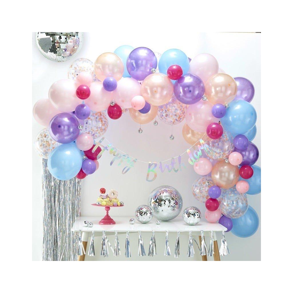 Balonkový set na výrobu balonkového oblouku (girlandy). Barva mullticolor pastelové barvy