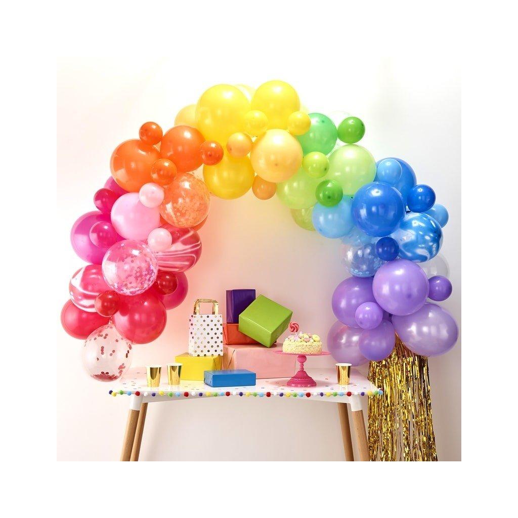SADA balónků na balónkový oblouk DUHOVÁ 70ks
