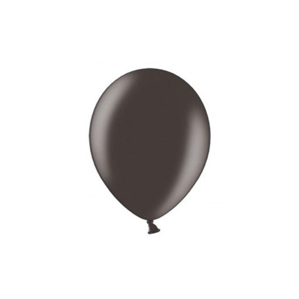 Balonky Strong latexové metalické černé 27cm 100ks