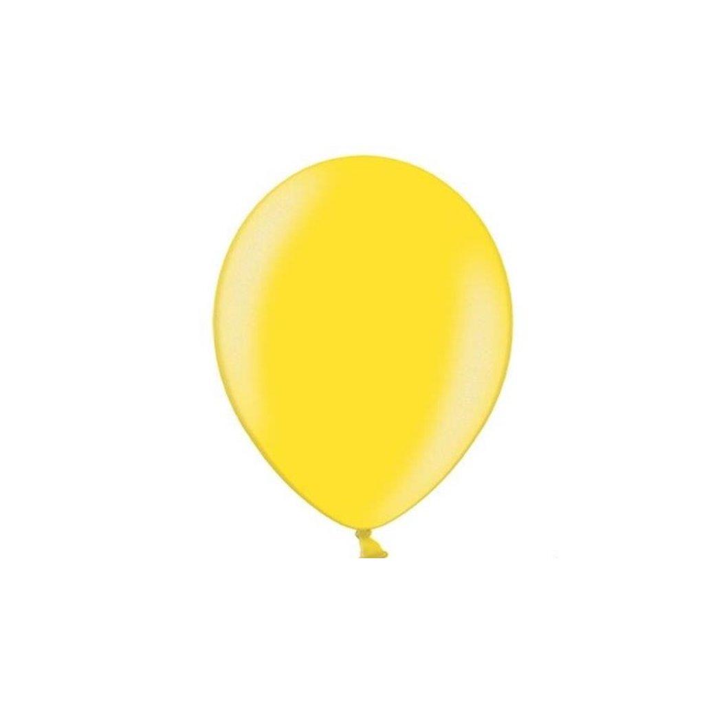 Balonek Strong latexový metalický žlutý 30cm