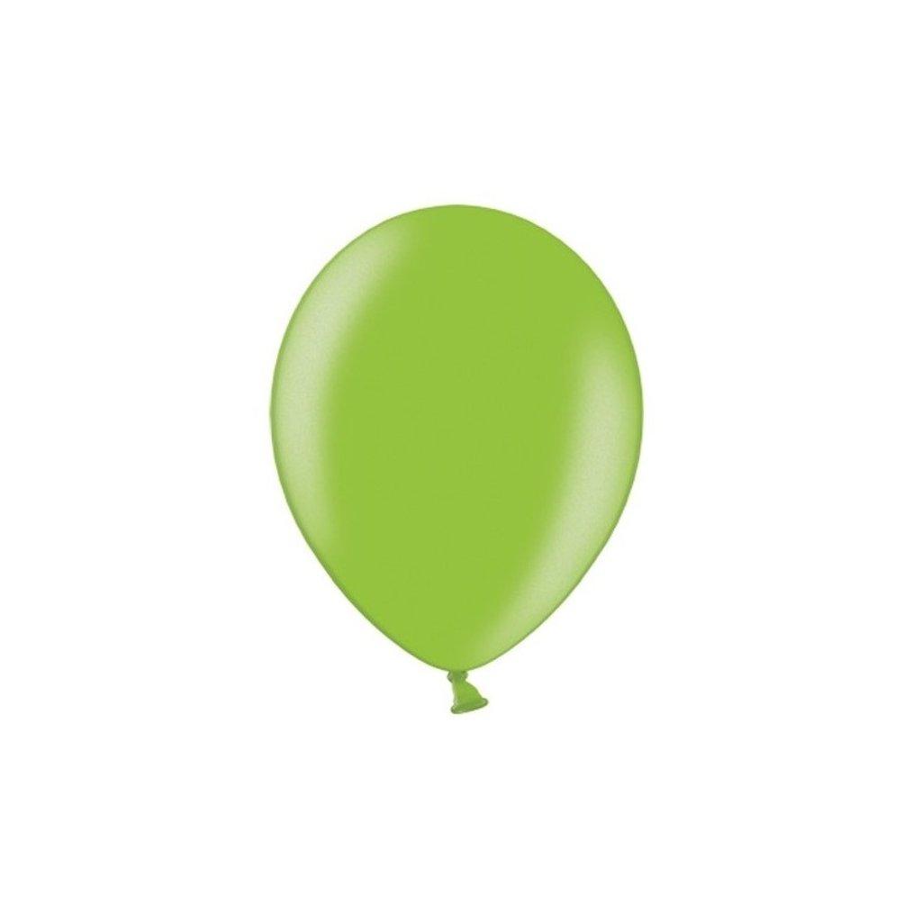 Balonek Strong latexový metalický světe zelený 30cm