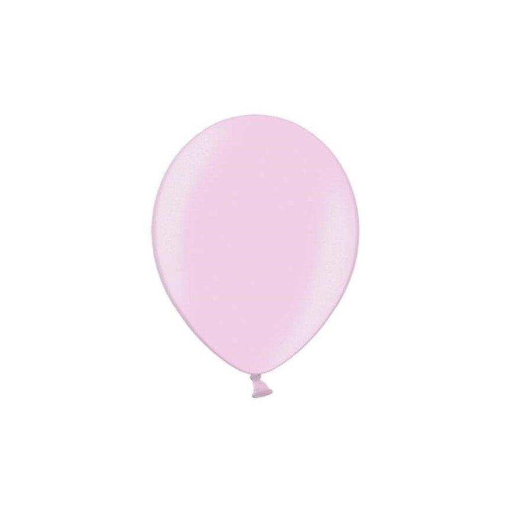 Balonek Strong latexový metalický světle růžový 30cm