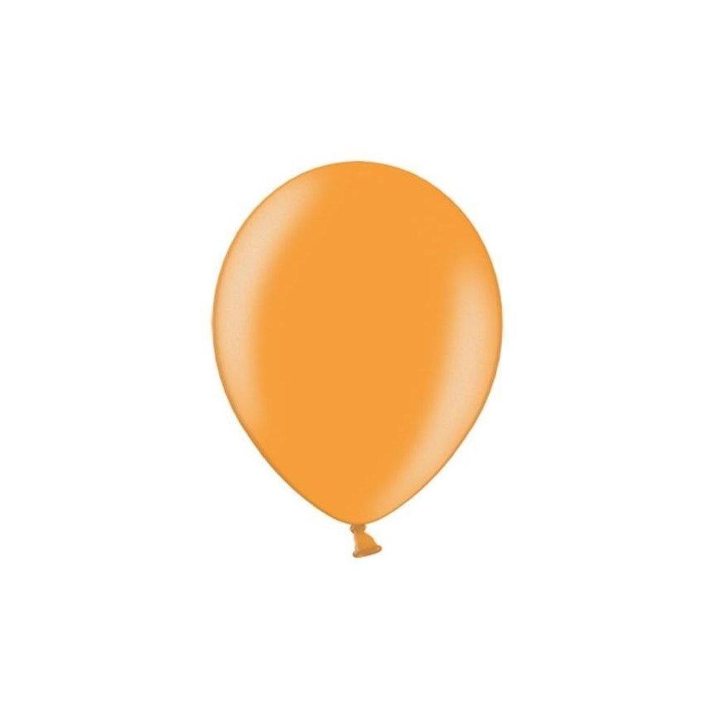 Balonek Strong latexový metalický oranžový 30cm