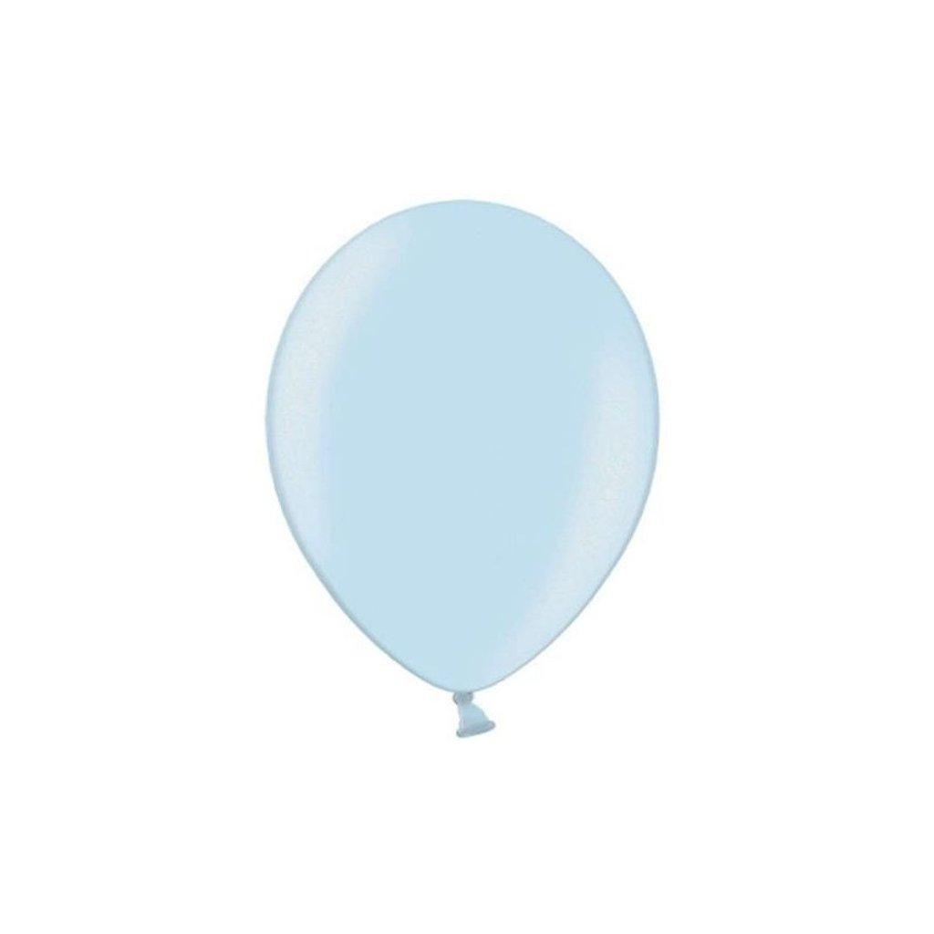 Balonek Strong latexový metalický  pastelově modrý 30cm