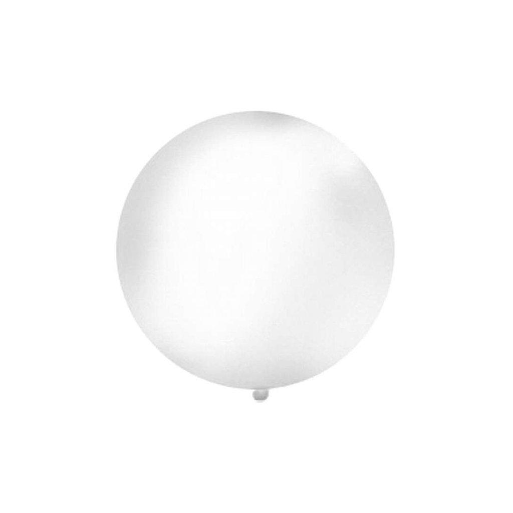Balon velký 1m bílý metalický