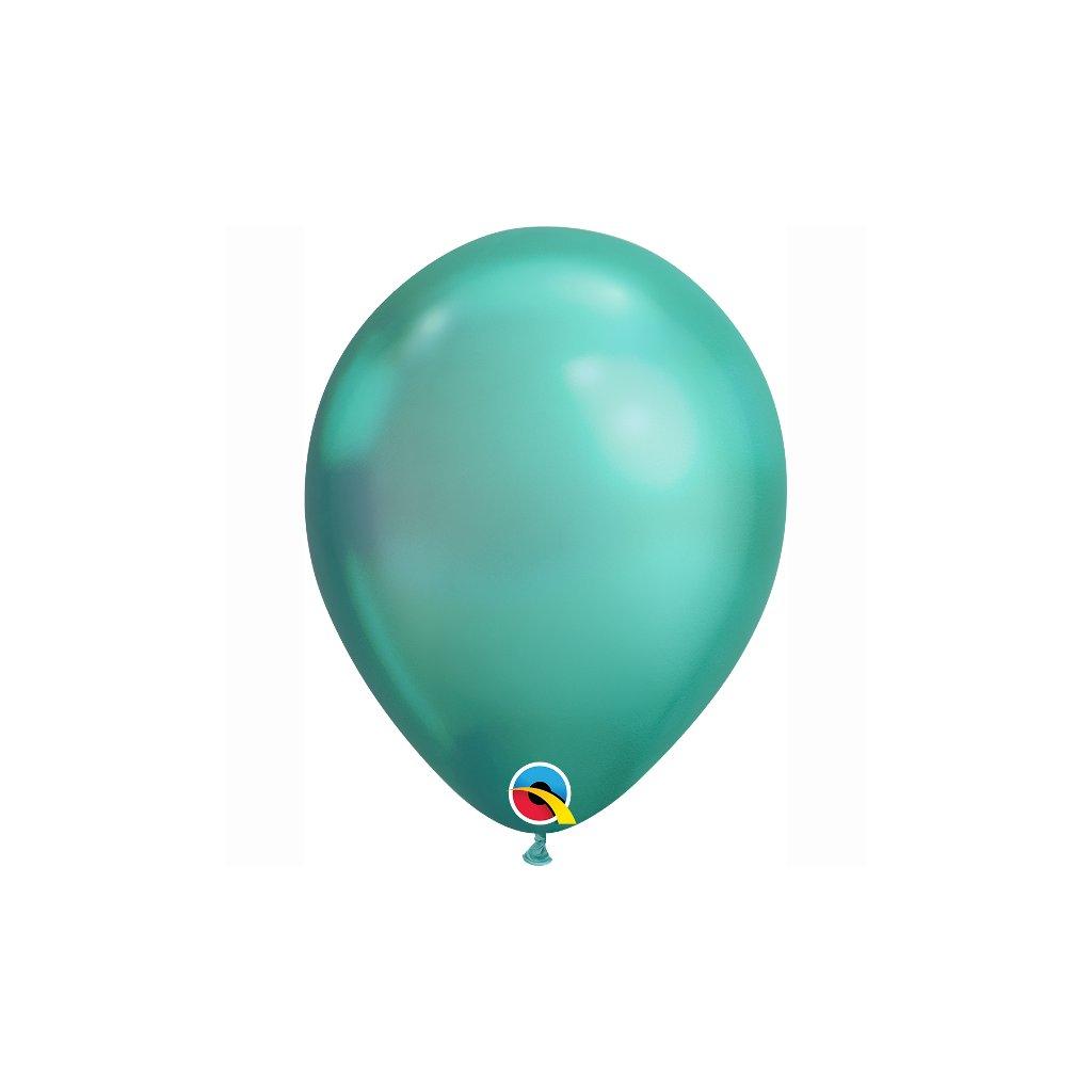 Balonek latexový chromový zelený 30cm