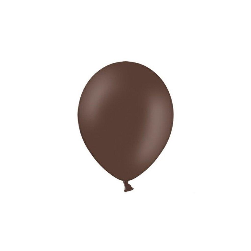 BALÓNEK latexový 27cm čokoládově hnědá 100ks