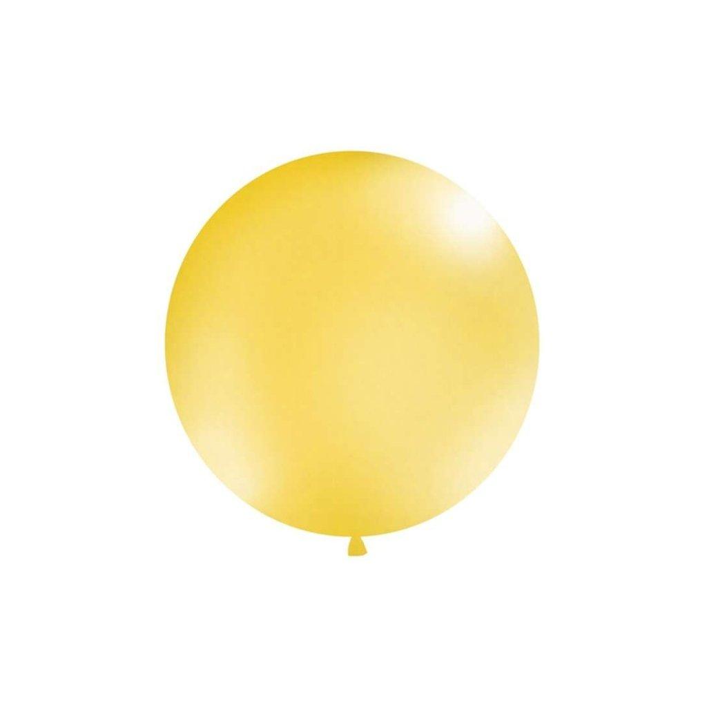 Balón kulatý obří o průměru 1 m metalický zlatý