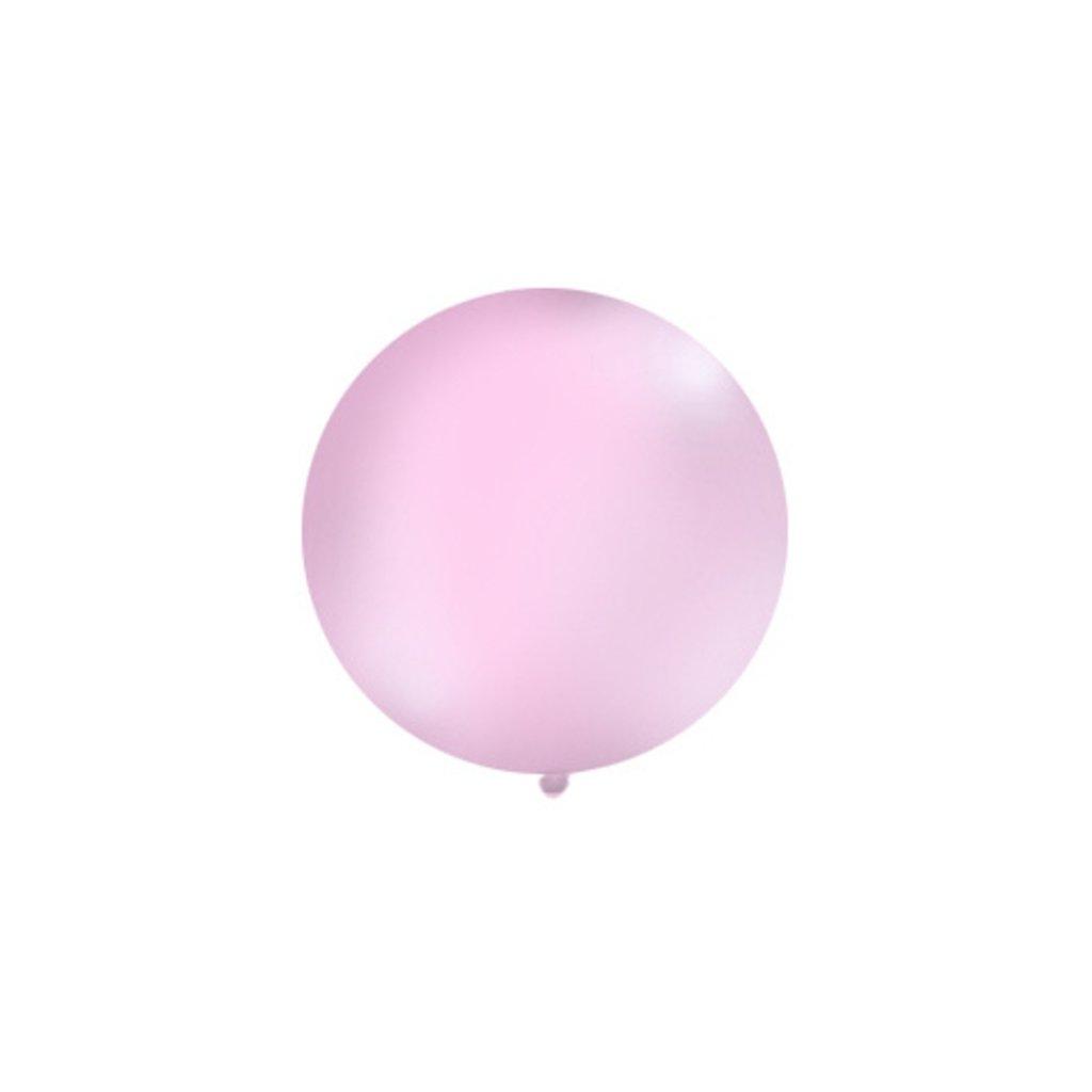 Balón kulatý obří pastelový o průměru 1 m  růžový
