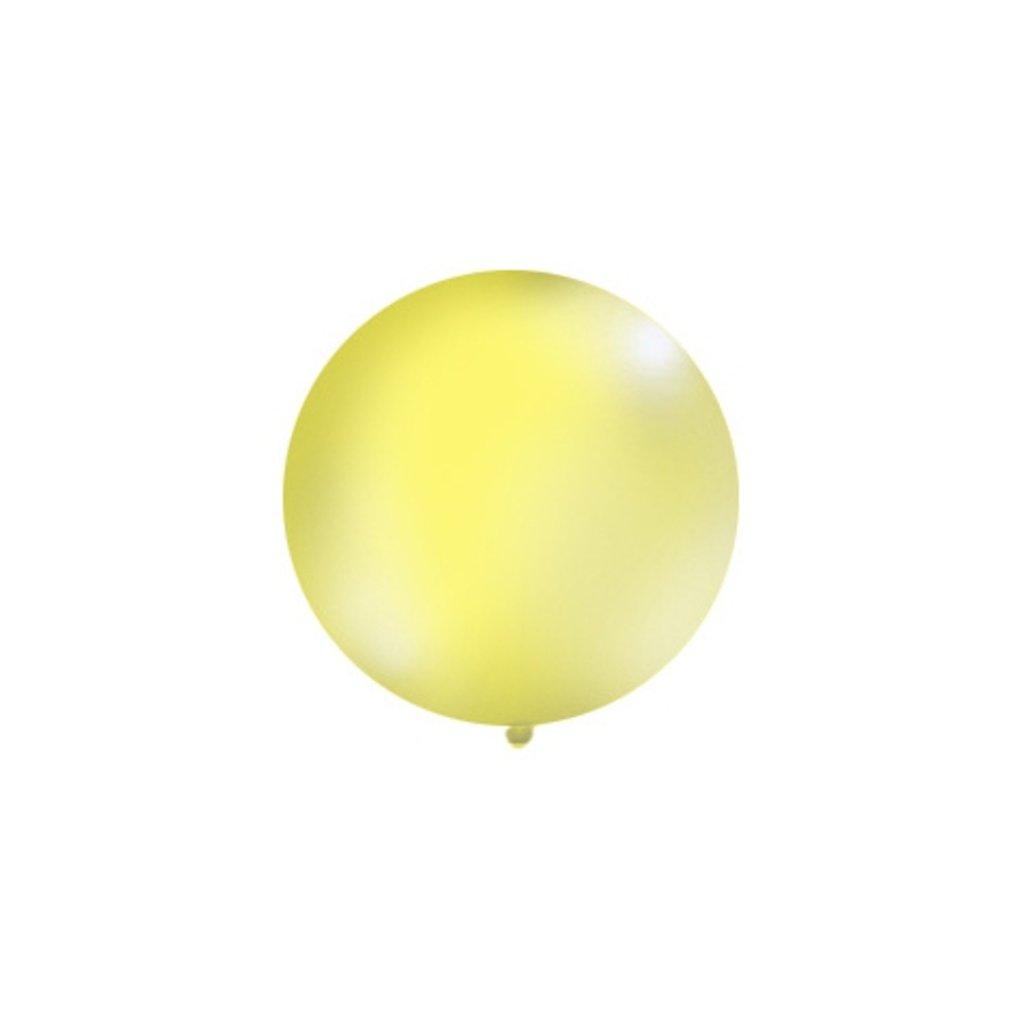 Balón kulatý obří pastelový o průměru 1 m  žlutý