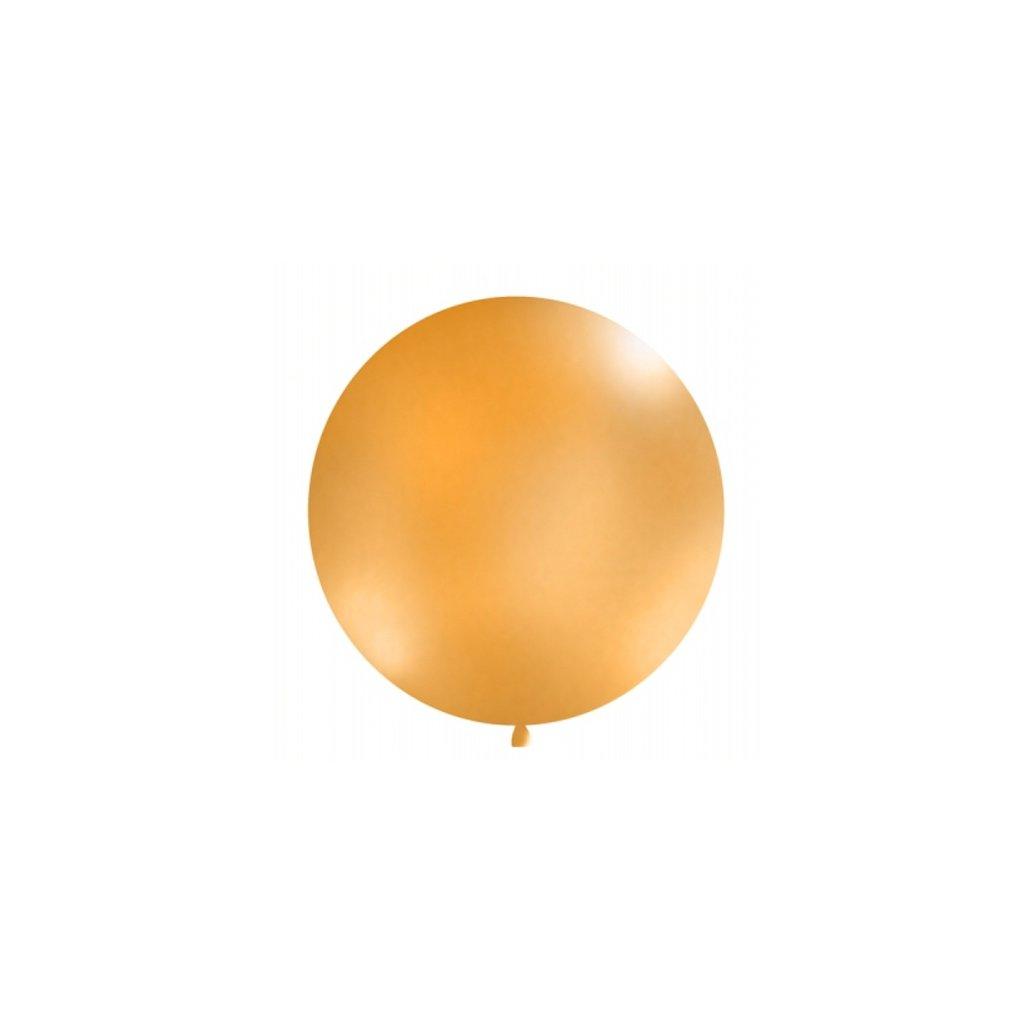 Balón kulatý obří pastelový o průměru 1 m oranžový