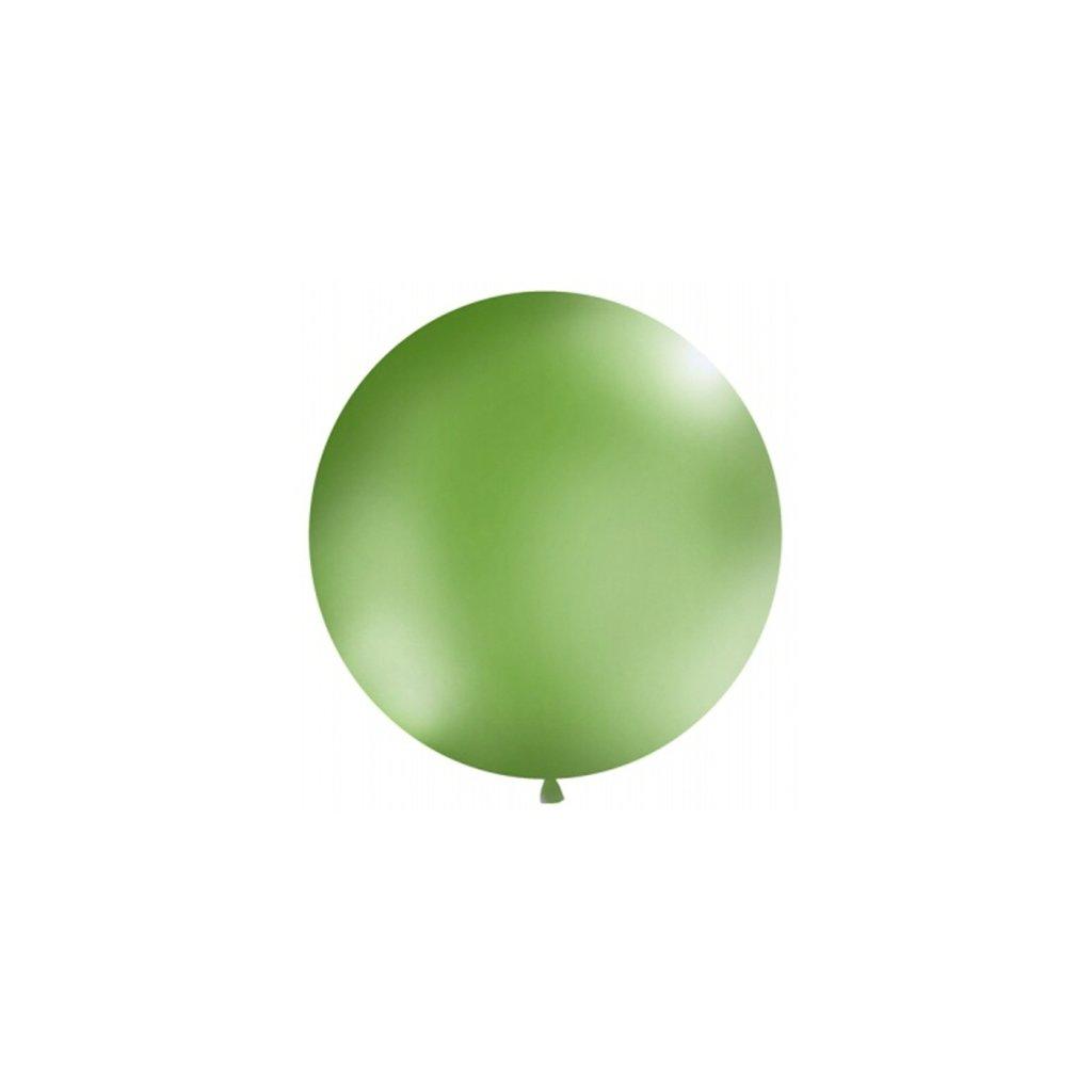 Balón kulatý obří pastelový o průměru 1 m sv. zelený