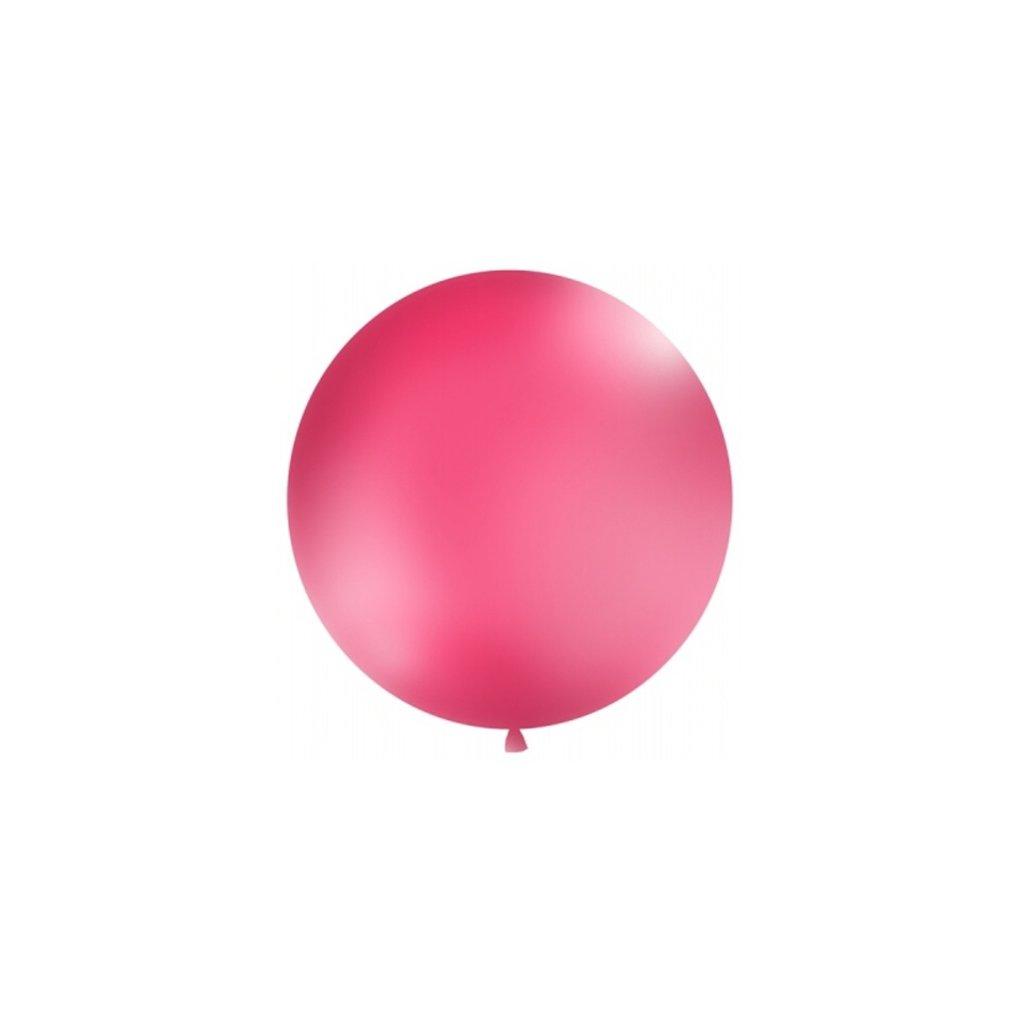 Balón kulatý obří z přírodního latexu o průměru 1 m magenta