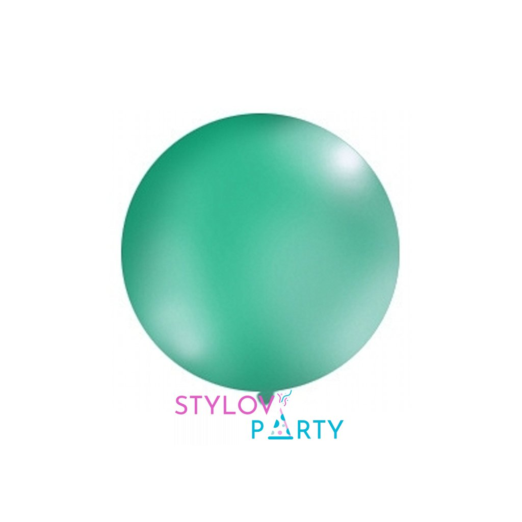 Balón kulatý obří z přírodního latexu o průměru 1 m zelený