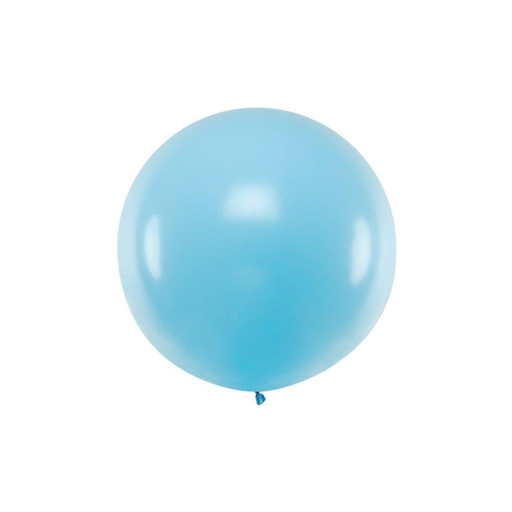 Balón kulatý obří z přírodního latexu o průměru 1 m modrý