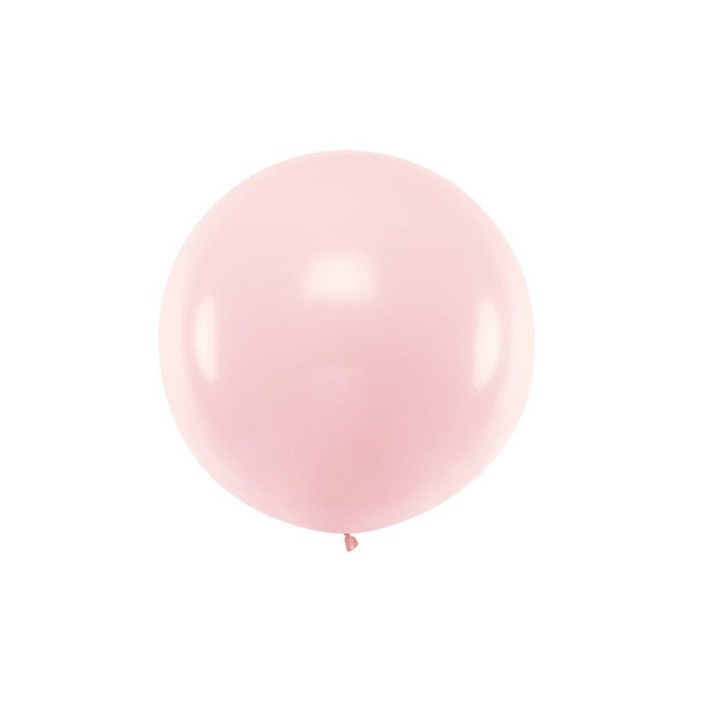 Balón kulatý obří z přírodního latexu o průměru 1 m sv. růžový
