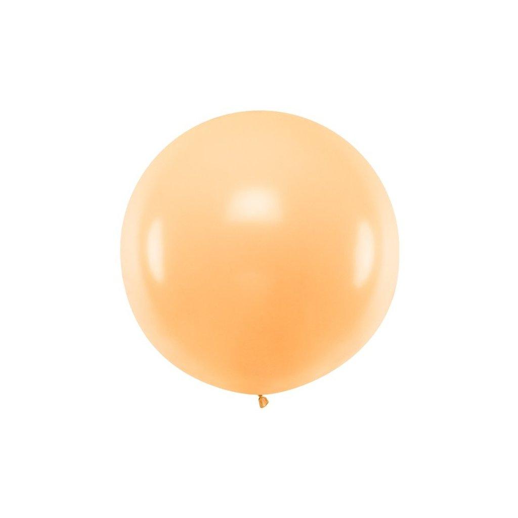 Balón kulatý obří z přírodního latexu o průměru 1 m broskvový