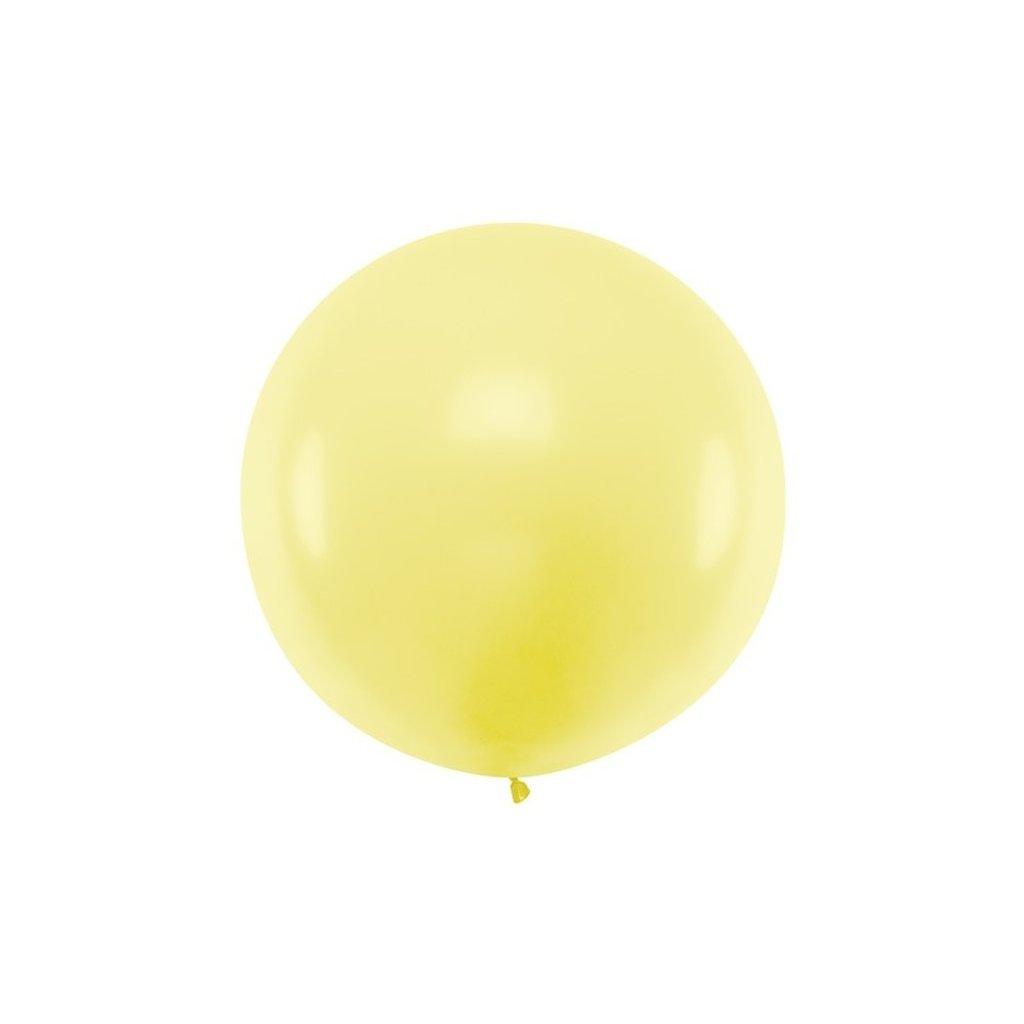 Balón kulatý obří z přírodního latexu o průměru 60 cm žlutý