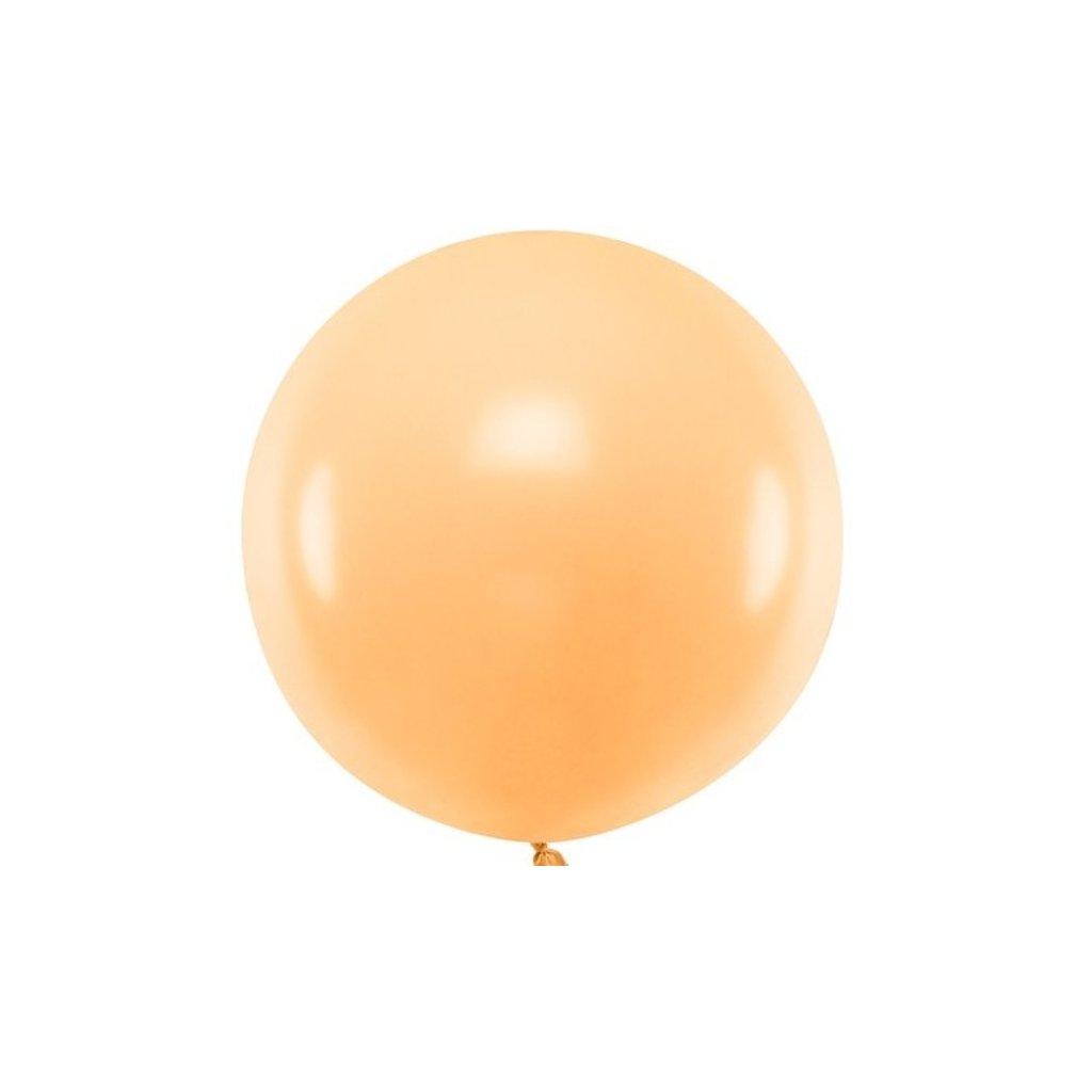Balón kulatý obří z přírodního latexu o průměru 60 cm broskvový