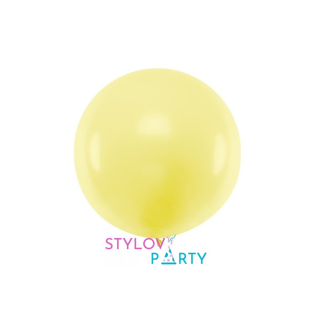 Balón kulatý obří z přírodního latexu o průměru 1 m sv.žlutý