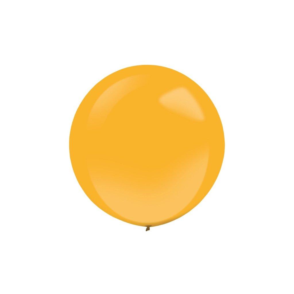 Balonky z přírodního latexu  velké kulaté metalické 60 cm 4 ks oranžové