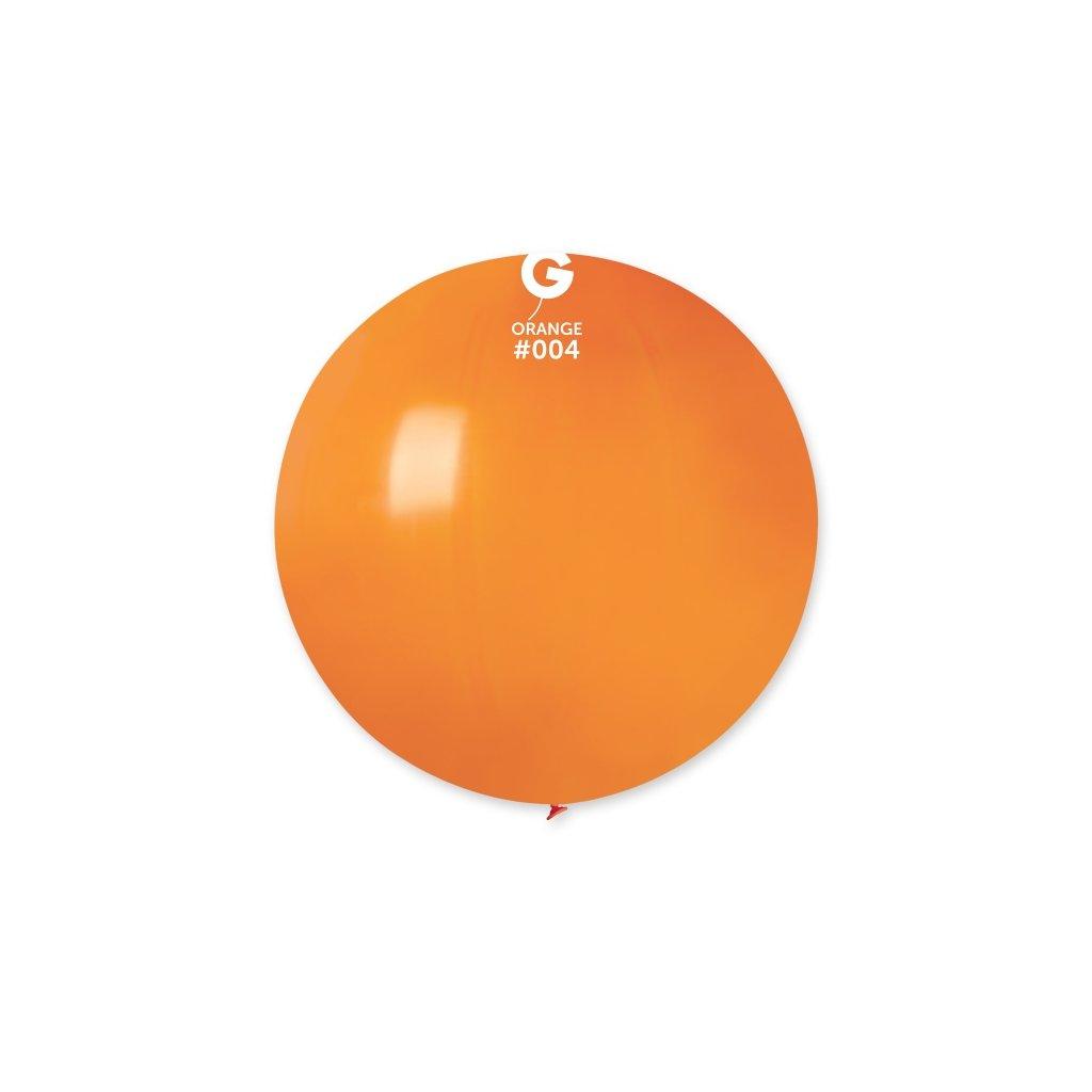 Balón kulatý velký z přírodního latexu o průměru 80 cm oranžový