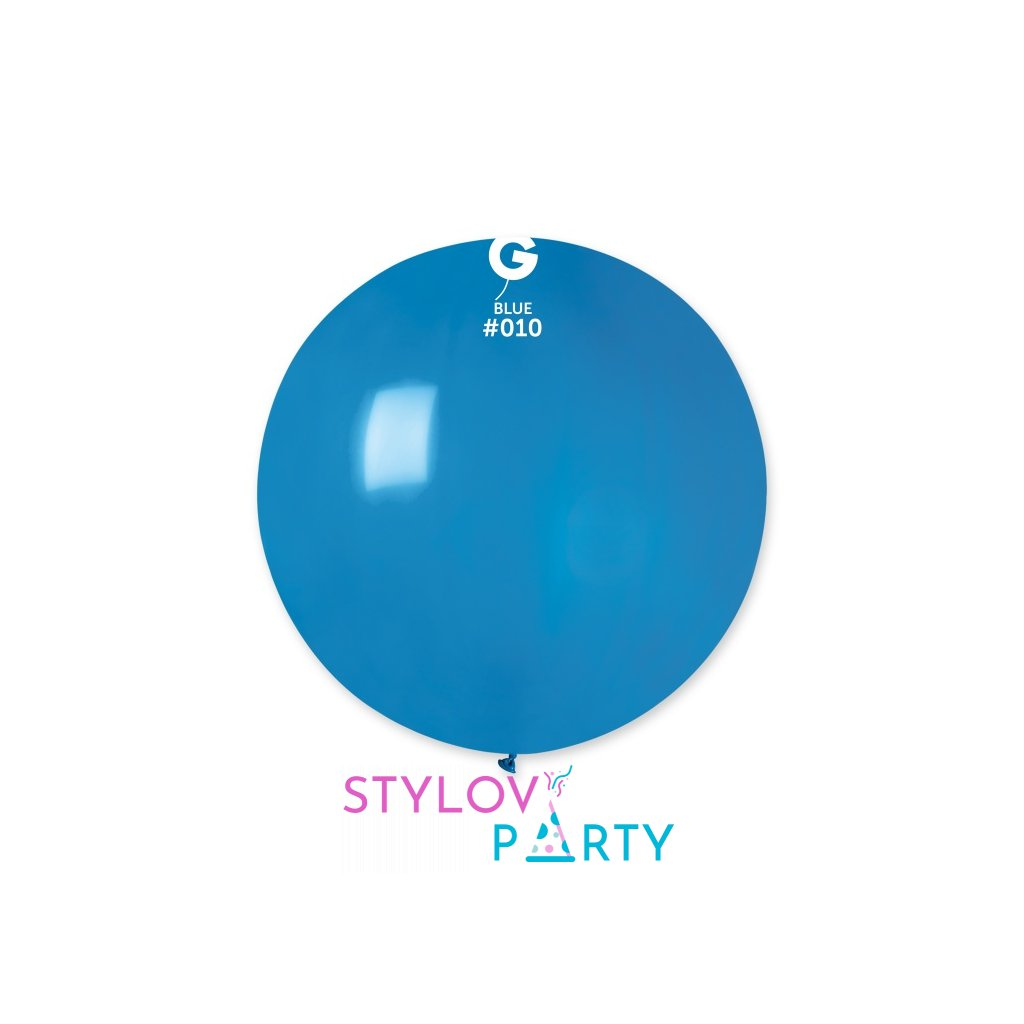 BALÓN JUMBO latexový 80 cm modrý 1ks