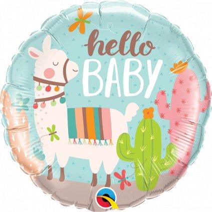 Balonek Hello Baby Lama fóliový