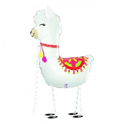 Balonek Lama fóliový chodící