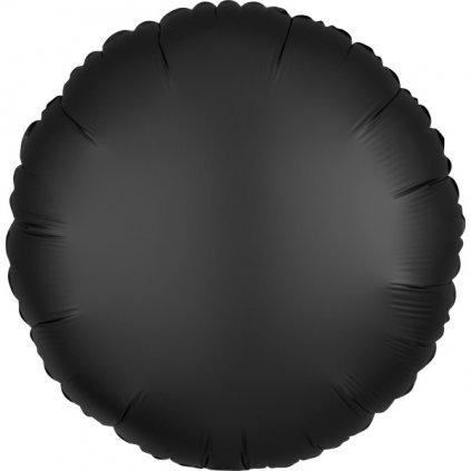 Balon kruhový foliový Onyx 43 cm