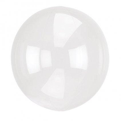 Balon kulatý Crystal Clearz ze speciální transparentní mikrofolie 38x40 cm