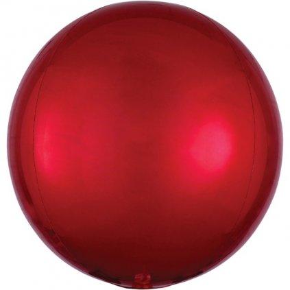 Balon kulatý ORBZ ze speciální červené mikrofolie 38x40 cm