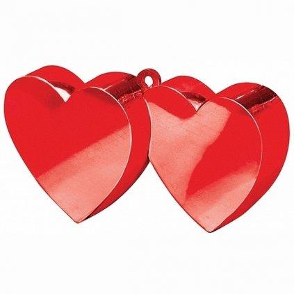 Těžítko balonkové spojená srdíčka červená