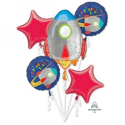 Buket foliových balonků Vesmír 5ks