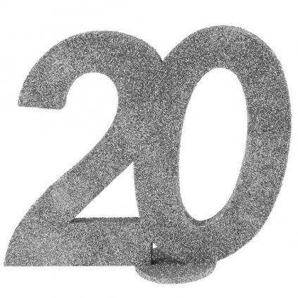 Číslovka na stůl 20 ve stříbrné barvě 1ks