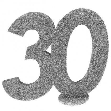 Číslovka na stůl 30 ve stříbrné barvě 1ks