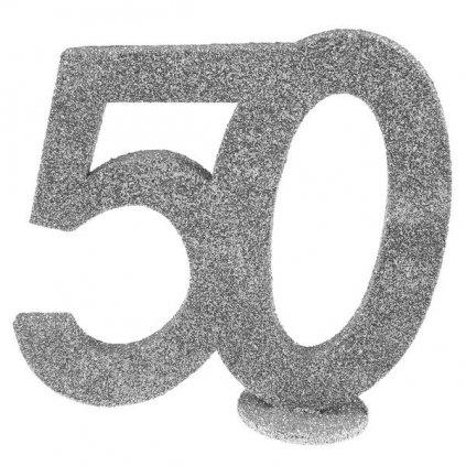 Číslovka na stůl 50 ve stříbrné barvě 1ks