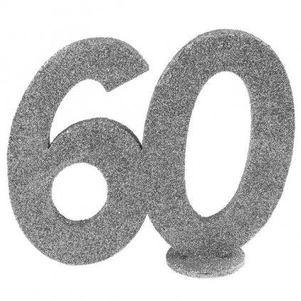 """Dekorace na stůl """"60"""" stříbrná"""