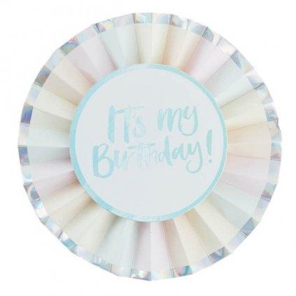 Odznak narozeninový pastelový