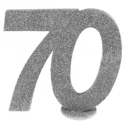 """DEKORACE na stůl stříbrná """"70"""""""