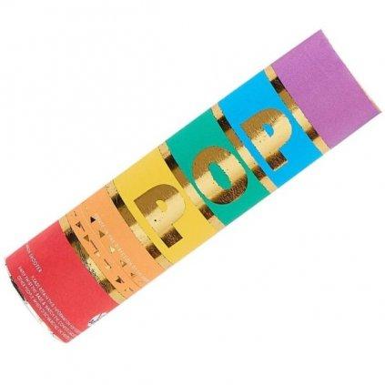 Konfety vystřelovací v duhových barvách 13 cm