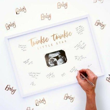 RÁMEČEK podpisový na Baby Shower Twinkle twinkle