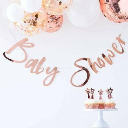 GIRLANDA Baby Shower růžové zlato