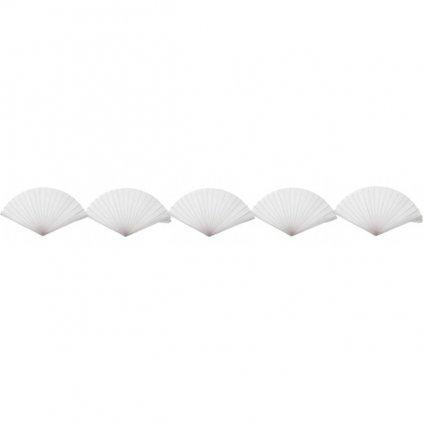 Girlanda bílé vějířky  3m