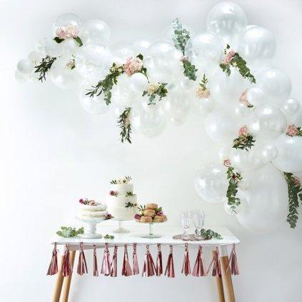 SADA balónků na balónkový oblouk BÍLÁ 70ks