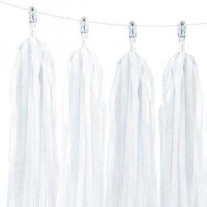 Girlanda bílé třásně 150cm