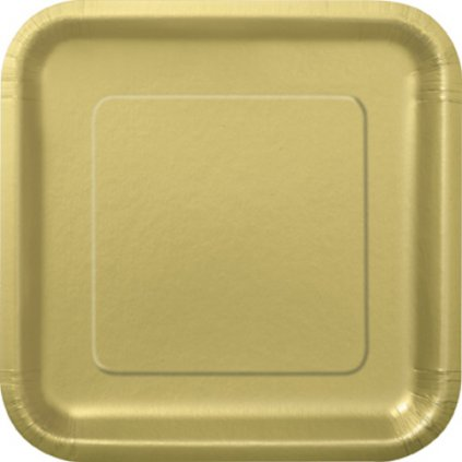 Talíře čtvercové velké Gold
