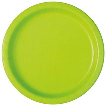 Talíře papírové Neon Green kulaté 22cm 16ks