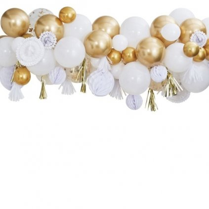 Set dekorací a balonků Mix it Up zlatá  98ks